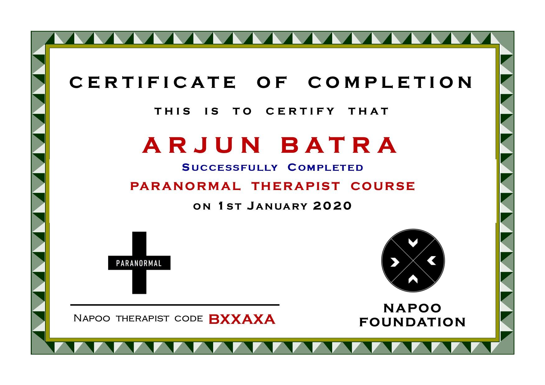 Paranormal Therapist in Delhi and Canada