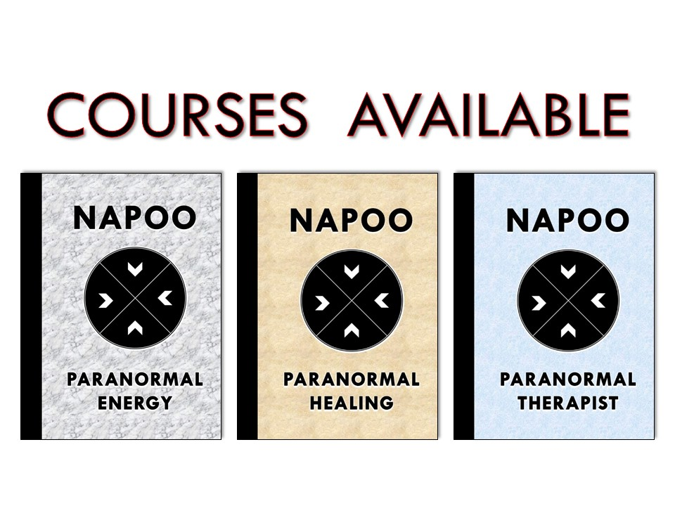 Napoo paranormal courses package for those people who want to become certified paranormal healer
